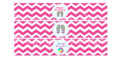 Printable Pool Party Birthday Flip Flop Water by HappyDotDesign, $2.99