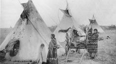 Yellowbird family - Cree - circa 1890