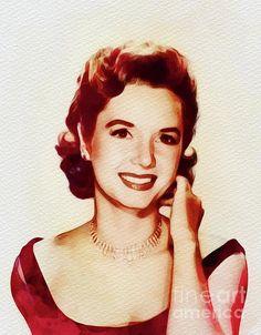 Debbie Reynolds Debbie Reynolds, Halloween Movies, New Movies, Classic Hollywood, Art Prints, Film, Celebrities, Wwii, Illustration