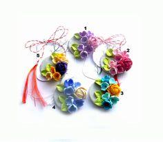 Brose cu flori - martisor Polymer Clay, Handmade, Jewelry, Fimo, Hand Made, Jewlery, Jewerly, Schmuck, Jewels