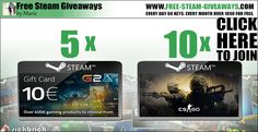 Cs Go Steam Free Key G2A Gift Cards http://www.free-steam-giveaways.com/cs-go-steam-free-key-g2a-gift-cards/