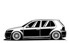 Vw R32 Mk4, Golf Mk4 R32, Golf 4, Golf Ball, Golf Drawing, Golf Tyler, Vw Cars, Car Drawings, Golf Accessories