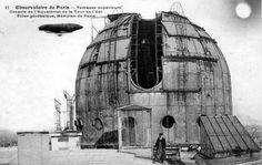 L'Observatoire de Paris, coupole de l'équatoriale en 1900.