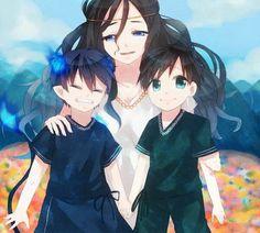 Ao no exorcist  Rin , Yukio and Mom