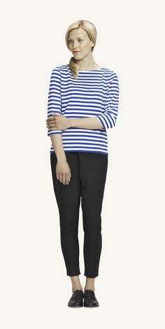 Pitkahiha Unisex Striped Long-Sleeve T-Shirt Blue/White by Marimekko Marimekko, Striped Long Sleeve Shirt, Work Fashion, Types Of Shirts, Capsule Wardrobe, Shirt Blouses, Casual Outfits, Clothes For Women, Black Clothes