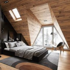 Inspirational ideas about Interior Interior Design and Home Decorating Style for Living Room Bedroom Kitchen and the entire home. Curated selection of home decor products. Attic Apartment, Apartment Design, Interior Design Examples, Interior Designing, Scandinavian Style Home, Budget Home Decorating, Diy Decorating, Interior Design Inspiration, Bedroom Inspiration