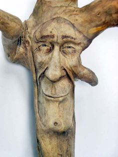Wood Spirit Carving, Wall Art, Handmade in Ohio, OOAK, by Josh Carte, Wood Sculpture, Gift for Mom, Gift for Him, Driftwood Carving.
