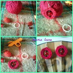 for my sister :) Crochet Earrings, Christmas Gifts, Recycling Ideas, How To Make, Diy, Jewelry, Xmas Gifts, Christmas Presents, Jewlery