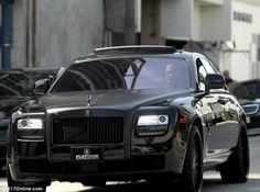 David Beckham in a new Rolls Royce Ghost