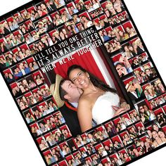 Personalized Ideas for Photo Booth Wedding Pictures Wall Art Collage 24x24. $205.00, via Etsy.