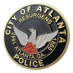 United States Military Atlanta Police Department / APD G-P Challenge coin Police Challenge Coins, Atlanta Police, Money Notes, Euro Coins, Blue Line Flag, Apd, Coin Collecting, Gold Coins, Plating