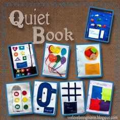 Quiet Book!!  welovebeingmoms.blogspot.com  #quiet book #kids  This is great!  Does someone sell something like this because I'm lazy!