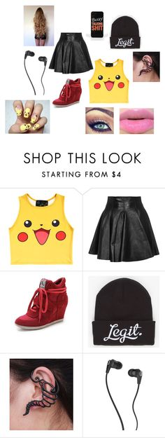 """""""Lyric's Outfit Chapter 8"""" by lyric-denali ❤ liked on Polyvore featuring O-Mighty, Plein Sud, Ash, Neff, Skullcandy, women's clothing, women, female, woman and misses"""