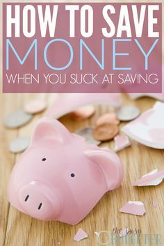 How to save money when you suck at saving. This is so me! I have like no willpower at all. It seems like no matter how hard I try, I can never actually get a savings account going. This was such an eye opener! I'm so motivated now. I'm ready to try it!