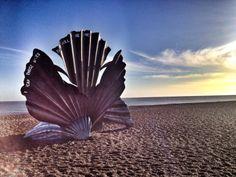 Maggie Hambling's Aldeburgh Scallop