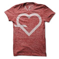 simple Tee Heather Red
