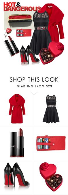 """""""Hot & Dangerous with F&W Style"""" by two-faced-honey on Polyvore featuring Keepsake the Label, AX Paris, blacklUp, Ferrari, Nino Bossi Handbags, Christian Louboutin, Godiva, women's clothing, women's fashion and women"""