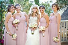 Pink Bridesmaid's Dresses; Photo by Sherri J. Photography