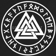 Valknut I Wotans Knoten I Runen I T-Shirts - Männer Kontrast-T-Shirt