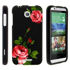 HTC Desire 510 Case SNAP SHELL 2 Piece Rubberized Hard Cover Plastic - Affectionate Flowers