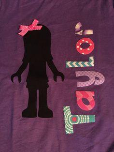 Lego Friends Girl Birthday Shirt by ThreeSweetLovies on Etsy