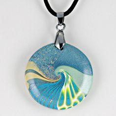 Polymer Clay Ocean Swirl.