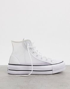 Converse chuck taylor all star see thru platform sneakers in white. #converse #sneakers #platformsneakers #activewear Chuck Taylors, Tie Heels, Strappy Sandals Heels, Platform Converse, Platform Sneakers, Air Force 1, Asos, Sneakers Fashion, Fashion Shoes
