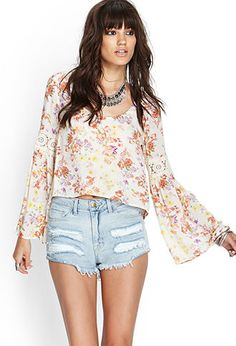 Retro Floral Blouse   FOREVER21 - 2000085214