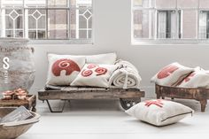 mesele felt pillows with universal symbols. www.mesele.com.tr