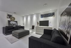 #LED #downlights #livingroom #art #modern #bw #style Downlights, Interior Lighting, Couch, Led, Living Room, Modern, Furniture, Home Decor, Style