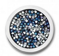 Mi Moneda Swarovski Deluxe Pacific Blue Medium Coin #MiMoneda