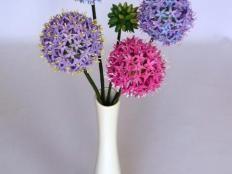 Allium,, kvitnuci cesnak,, - foto postup Glass Vase, Home Decor, Pictures, Interior Design, Home Interiors, Decoration Home, Interior Decorating, Home Improvement