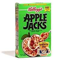 Apple Jacks.  It's the best cereal named after a strong alcoholic beverage. (A close second is Tequila Krispies).