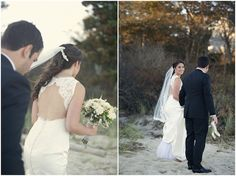 Wow! The back of this lace and silk wedding gown is beautiful (photos by Carla Ten Eyck)