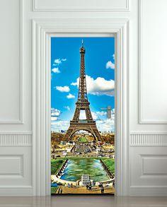 Door Wall STICKER french poster Paris Eiffel Tower France decole film 30x79(77x200cm) via Etsy