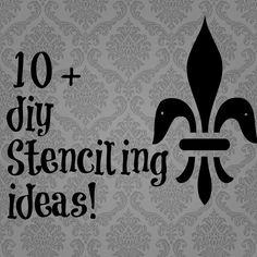 10 + Stenciling ideas {DIY} | Debbiedoo's