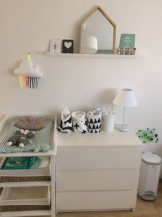 Baby room ikea malm ideas for 2019 Ikea Baby Room, Baby Bedroom, Baby Boy Rooms, Baby Room Decor, Baby Changing Station, Baby Changing Tables, Baby Corner, Ikea Malm, Pretty Room