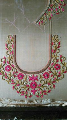 embroidery blouse designs & embroidery & embroidery patterns & embroidery designs & embroidery inspiration & embroidery for beginners & embroidery stitches & embroidery blouse designs & embroidery hoop art Kids Blouse Designs, Hand Work Blouse Design, Simple Blouse Designs, Blouse Neck Designs, Hand Designs, Embroidery Neck Designs, Embroidery Blouses, Embroidery Stitches, Embroidery Patterns