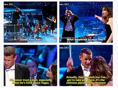 Clara wants to know what happened to the Doctor's hair (dialog from the Doctor Who prom 7-13-13)
