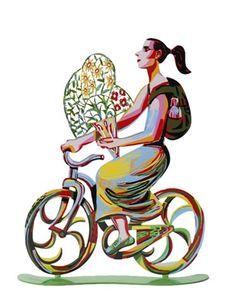 Rider Flower Sculpture by David Gerstein