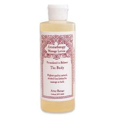 Massage Lotion for the Body from Attar Bazaar, the world leader in eastern and exotic fragrances since 1980.