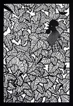 Elisa Mearelli - Alba, 2014, carta ritagliata, 70x100cm