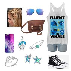 """""""sea"""" by nsommers15 on Polyvore featuring Fifth Sun, Converse, NOVICA, Disney and Bling Jewelry"""