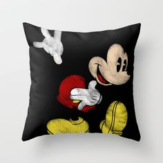 DISNEY MICKEY MOUSE: DARK MICKEY Throw Pillow by Marco Lilliu - $20.00