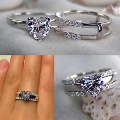 engagement bands that fit together - Bing Images-- o don't like the heart shape but the way they fit together.