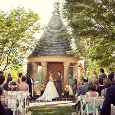 The Stone Gazebo in the White Garden at Graylyn!! Winston Salem NC