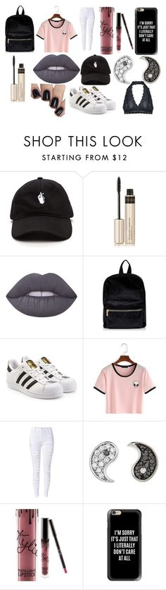 """""""untitled 2"""" by avepatrolia on Polyvore featuring By Terry, Lime Crime, Topshop, adidas Originals, Sydney Evan, Kylie Cosmetics, Casetify and Free People"""