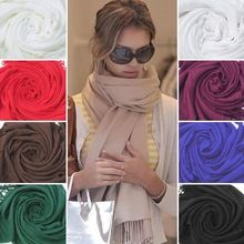 Горячая распродажа женщин модный шарф обруча шерсть мягкая теплый длинный большой шали кистями(China (Mainland))