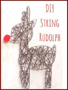 Yey! I am going to make a red nosed reindeer next weekend! Maybe my stepson can help and we have a gift for the grandparents! #ad #affiliate #diy #etsy #christmas #christmasgifts #christmasdecor #stringart #rednose #reindeer #rudolph #rudolphtherednosedreindeer #oybpinners