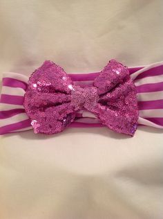 Sequin Headbands/Hair Bows/ Bows/Hair Accessories by debbiewomack on Etsy
